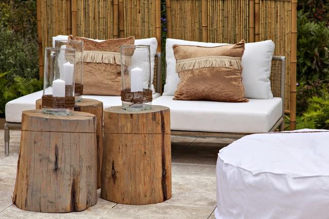 Aran acja tarasu i balkonu w stonowanych barwach pomys for Accesorios rusticos para decorar
