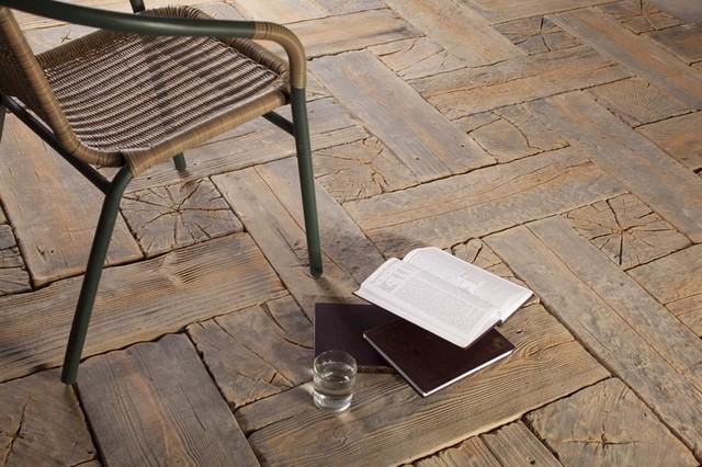 Płyty Betonowe Imitujące Drewno Pomysł Na Taras W Stylu