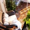 Drewniana posadzka na balkonie