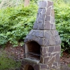 Zewnętrzny kominek murowany