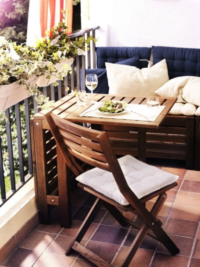 pomys na ma y balkon aran acja ma ego balkonu taras. Black Bedroom Furniture Sets. Home Design Ideas