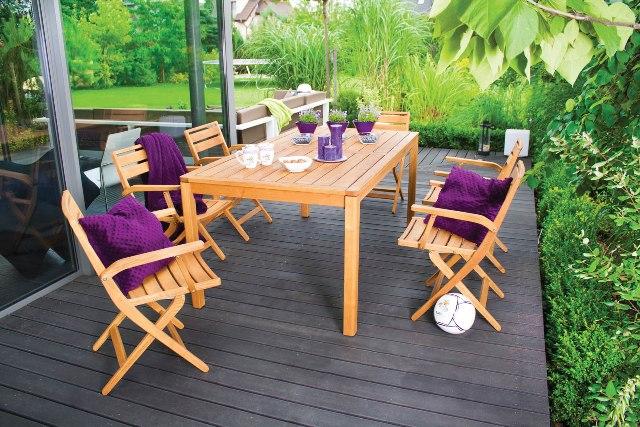 Meble Ogrodowe Drewniane Z Drewna Egzotycznego : Drewniane meble na taras i balkon – jakie meble tarasowe wybrać?