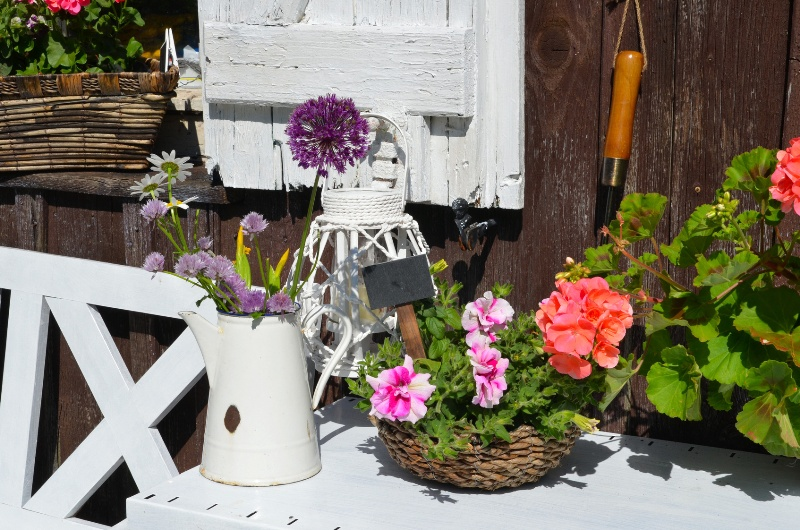 wiosenne dekoracje tarasu i balkonu dekoracje na taras i. Black Bedroom Furniture Sets. Home Design Ideas