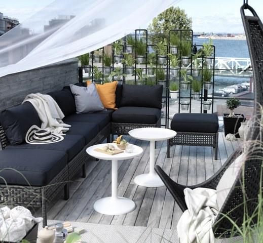 Pomys na balkon i taras zielona ciana taras balkon - Ikea terraza y jardin ...