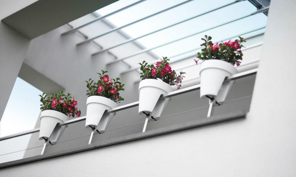 doniczki balustrada taras balkon