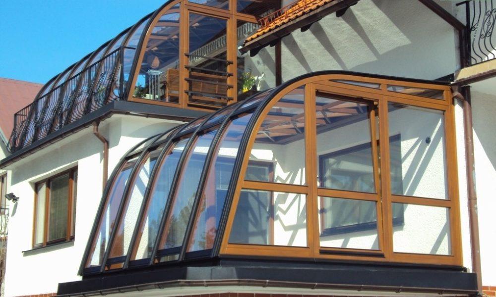 ogród zimowy na balkonie
