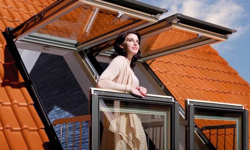 Balkon w dachu