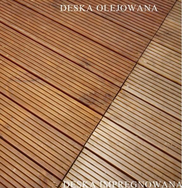 Sosnowe Deski Tarasowe Taras Drewniany