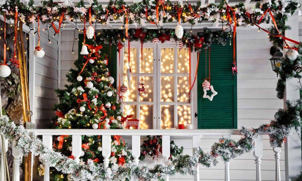 świąteczne dekoracja na taras i balkon