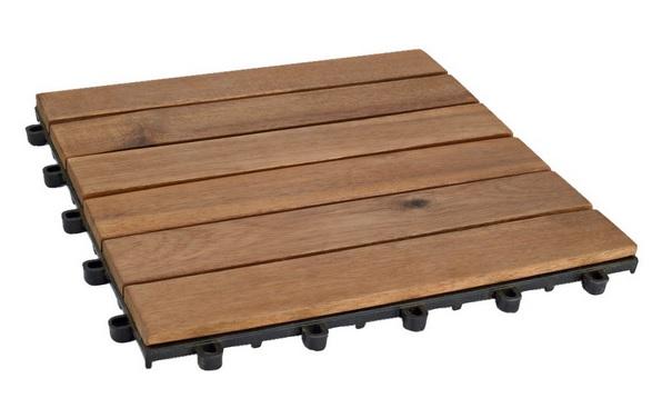 Płytki podłogowe z drewna akacjowego JULA  Cena: 39,90 zł za 5 szt.