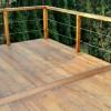 Drewniany taras po zimie
