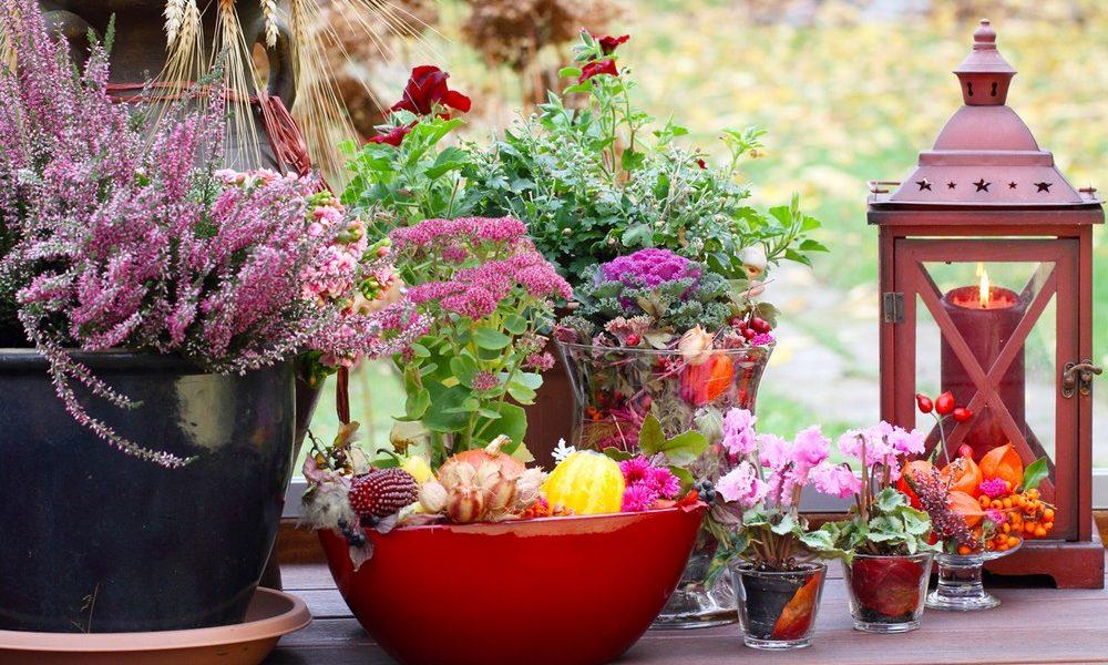 jesienna aranżacja balkonu i tarasu