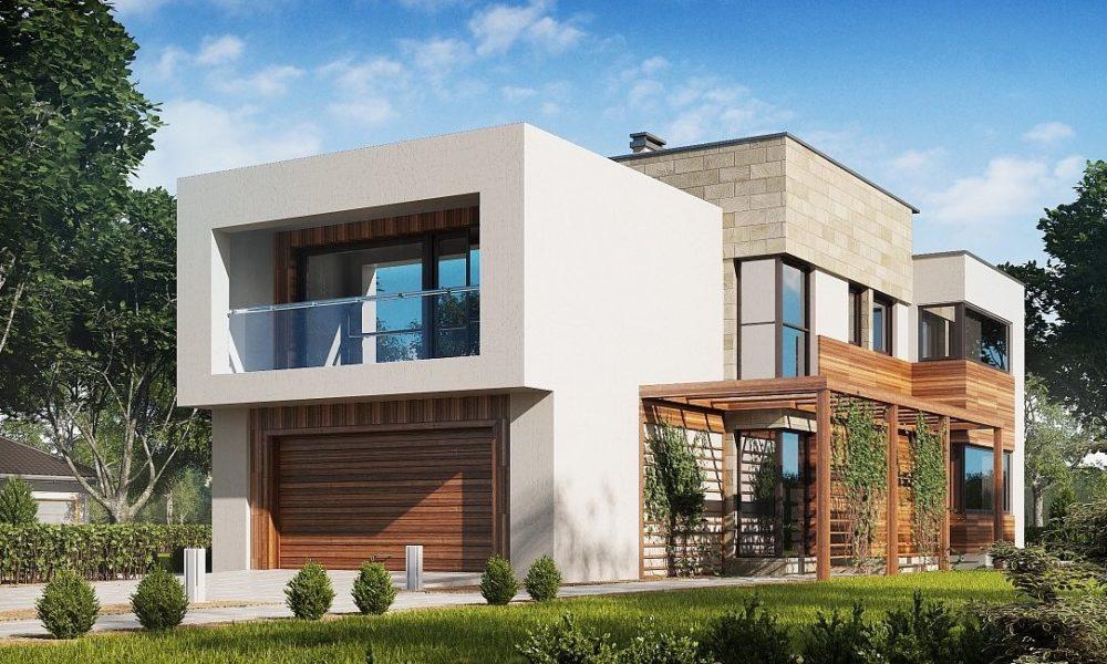 loggia nowoczesny dom