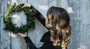 Świąteczne dekoracje tarasu